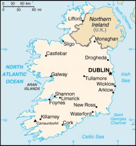 Ireland map/CIA