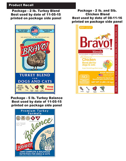 Bravo dog and cat food recalled/FDA