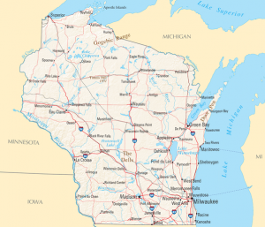 Wisconsin map/National Atlas of the United States