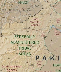 FATA Pakistan map/CIA