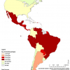 Dengue serotypes in the Americas/PAHO