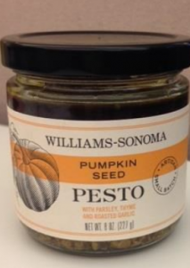 Williams-Sonoma Pumpkin Seed Pesto sauce/CDPH