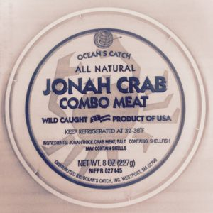 Jonah Crab Meat Combo/FDA