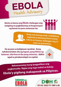 Ebola Health Advisory/Philippines Dept of Health