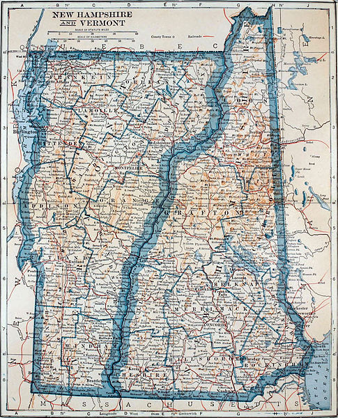 Vermont/New Hampshire map/L. L. Poates Eng. Co.