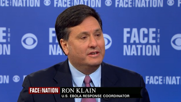 Ebola czar, Ron Klain Video Screen Shot