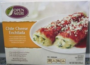 Open Nature Chile Cheese Enchiladas/FDA