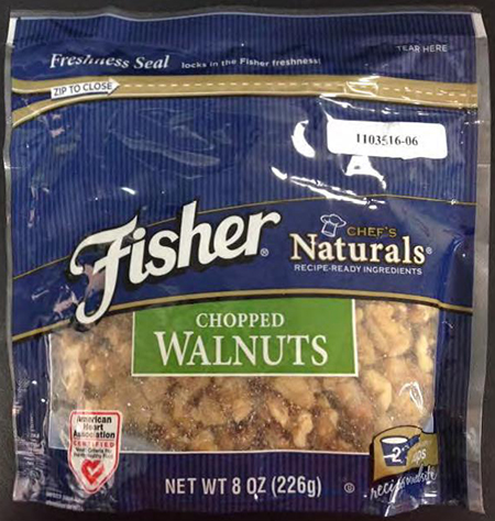 Fisher Chopped walnuts/FDA