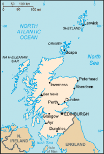 Scotland map/CIA