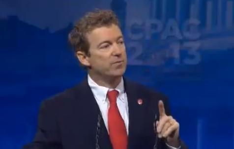 Rand Paul at CPAC 2013 Image/Video Screen Shot