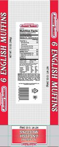 Market Basket Fork Split 6 count Original English Muffins Image/FDA