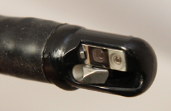 Close-up view of an ERCP endoscope tip/FDA