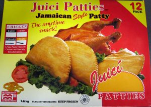 Juici Patties brand Jamaican Style unbaked Chicken Patty /CFIA