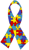 Autism awareness ribbon/Public domain image Ioannes.baptista