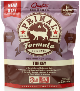 Primal Pet Foods Feline Turkey Raw Frozen Formula/FDA