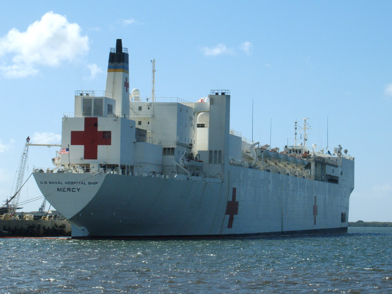 USNS Mercy Image/Jim Bedient