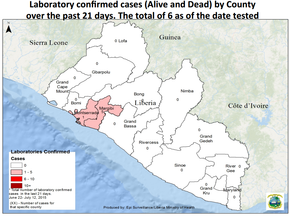 New Ebola cases in Liberia/Liberian Health Ministry