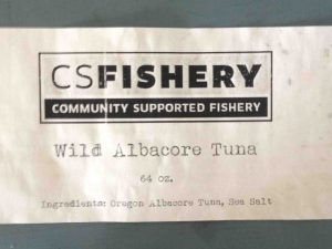 CS Fishery Wild Albacore Tuna /FDA