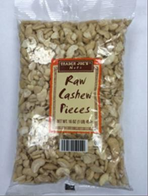 Trader Joe's Raw Cashew Pieces/FDA