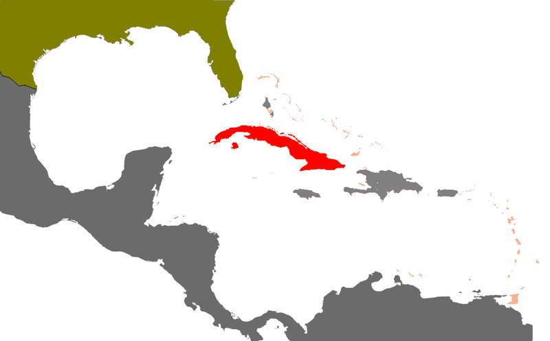 Cuba in red Public domain image/wikimedia commons