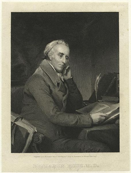 Engraving of Benjamin Rush, M.D., by Richard W. Dodson, after a portrait by Thomas Sully.