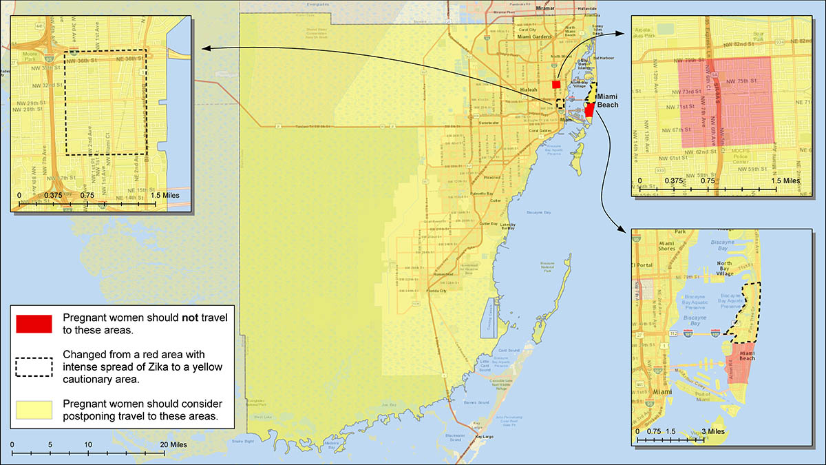 Health officials clear part of Miami Beach Zika zone