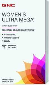GNC Women's Ultra Mega Time Release dietary supplement