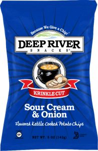 Deep River Snacks Sour Cream & Onion Kettle Chips