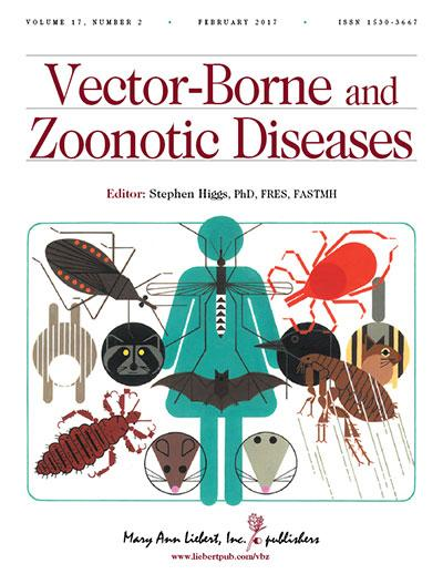 Vector-Borne and Zoonotic Diseases is an authoritative peer-reviewed journal published monthly online with open access options and in print dedicated to diseases transmitted to humans by insects or animals. Image/Mary Ann Liebert, Inc., publishers