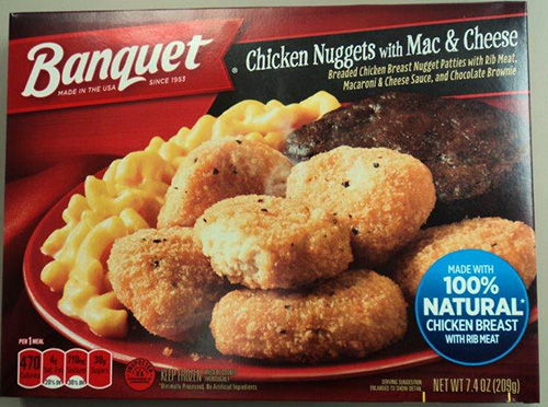 BANQUET Chicken Nuggets with Mac & Cheese/FSIS