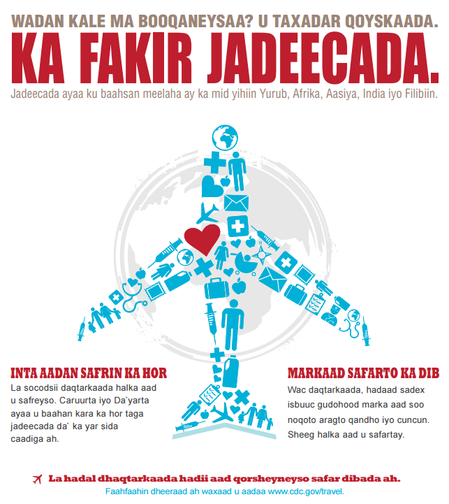 Think measles poster (In Somali)/MDH