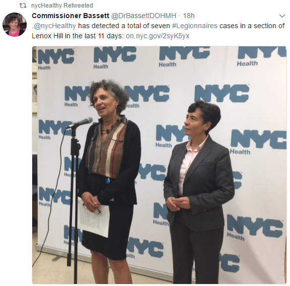 NYC Health Commissioner Dr. Mary T. Bassett Image/Twitter