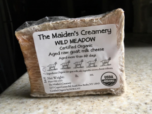 "The Maiden's Creamery ""Wild Meadow"" raw goat milk cheese/New York State Department of Agriculture and Markets"