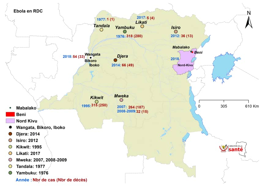 Ebola outbreaks in the Democratic Republic of the Congo Image/DRC MOH