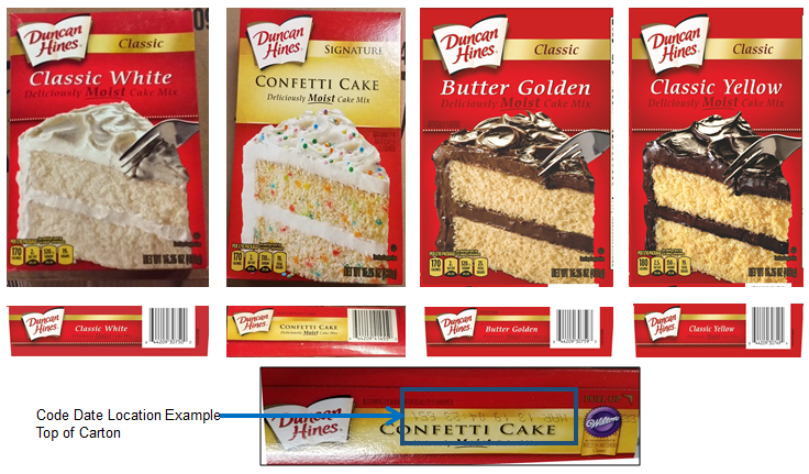 Duncan Hines: Four cake mixes recalled due to potential Salmonella - Outbreak News Today