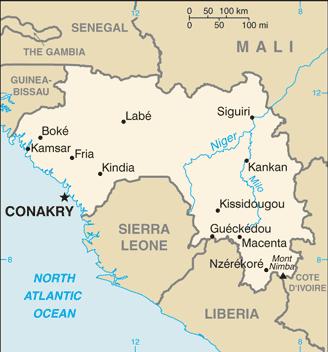 Guinea map Image/CIA