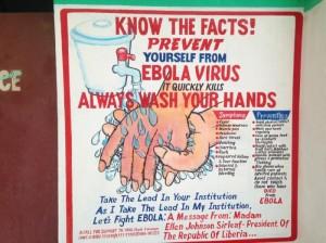 Liberia Ebola  public service poster/CDC