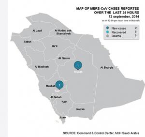 Saudi MERS cases 9-12-14 Image/Saudi MOH