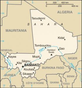 Mali map/CIA
