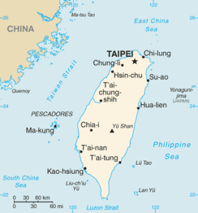 Taiwan map/CIA
