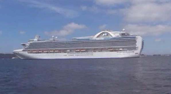 Princess Cruises' Crown Princess Image/Video Screen Shot