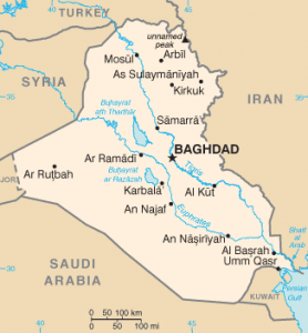 Iraq map/CIA
