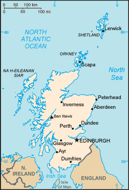 Scotland map/CIA