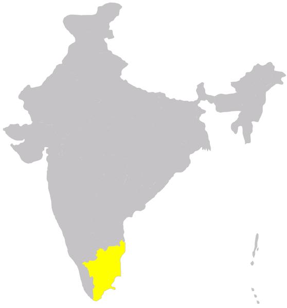 Tamil Nadu map/Immanuel Giel
