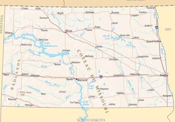 North Dakota Image/National Atlas