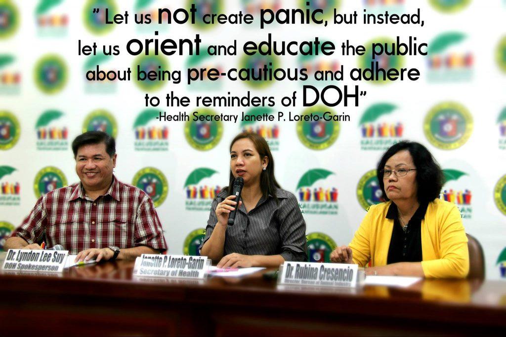 Health Secretary Janette P. Loreto Garin/Philippines DOH Facebook page