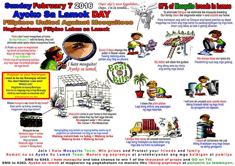 Ayoko sa Lamok Image used by permission from Thomas Wak