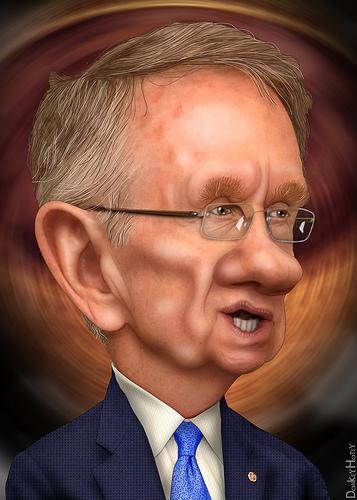 Harry Reid caricature by donkeyhotey donkeyhotey@wordpress.com