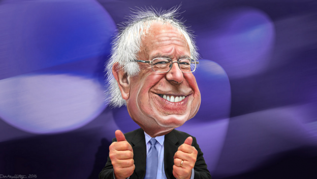 Sanders wins big in New Hampshire photo/ donkeyhotey