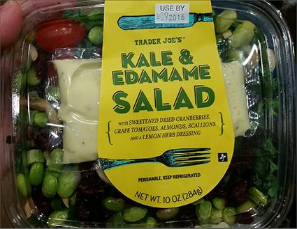 Trader Joe's Kale & Edamame Salad